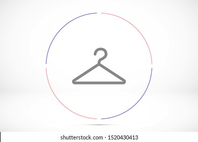 Cloth Hanger Icon, Cloth Hanger Icon Vector Art Illustration.Clothes Cloth Hanger Icon Vector Illustration Logo Template Isolated on White Background.Cloth Hanger Icon . Security badge sign