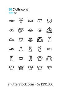 Cloth vector icons