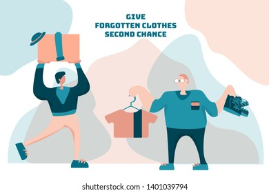 Clothes donation party. Swap party. Mindfull lifestile. Give your clothes second chance. Give forgotten clothes new life.