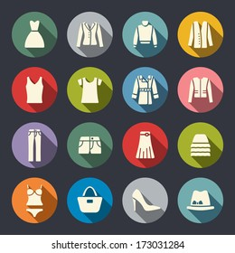Clothes flat icons