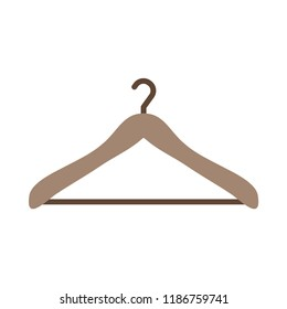 Clothes hanger flat icon. You can be used Clothes hanger icon for several purposes like: websites, UI, UX, print templates, promotional materials, info-graphics, web and mobile phone apps.