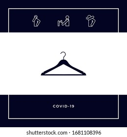 Clothes Hanger icon. Graphic elements for your design