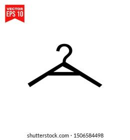 Clothes Hanger icon template black color editable. Clothes Hanger symbol Flat vector sign isolated on white background. Simple logo vector illustration for graphic and web design.