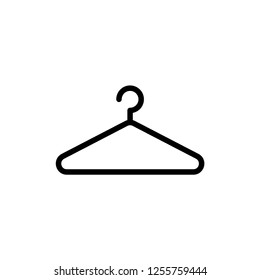 Clothes Hanger Icon Vector Illustration Logo Template Isolated on White Background.
