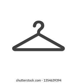 clothes hanger icon vector illustration logo template isolated on white background