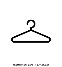 Clothes hanger. Hanger icon vector isolated on white background