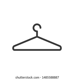 Clothes Hanger icon vector sign isolated on white background. Clothes Hanger symbol template color editable