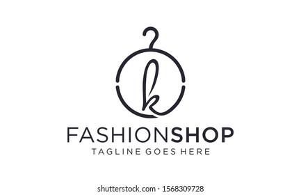 Clothes hanger for logo vector