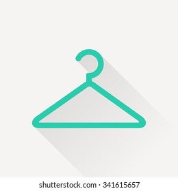 clothes hanger vector icon