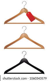 Clothes hangers,vector illustration