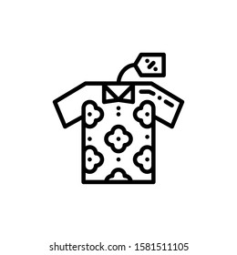 Clothes Icon Outline Vector. Holiday Sale Icons. Online Shop Ikon.