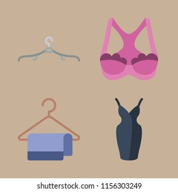clothes icons set. fabric, girl, clothes and posing graphic works