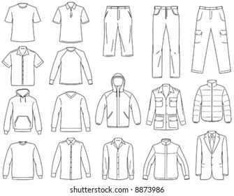 Men's clothes illustration You'll find more clothes illustrations in my portfolio
