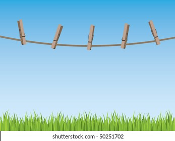 Clothes line background