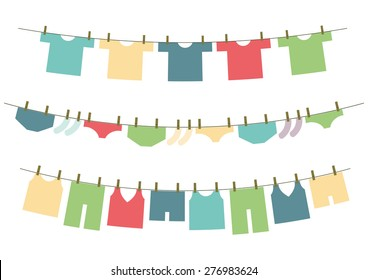 Clothes line vector
