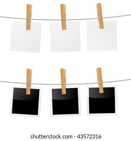 clothes peg, clothes pin - vector image