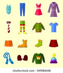 Clothes set - vector