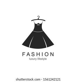 Clothes shop fashion logo vector icon template