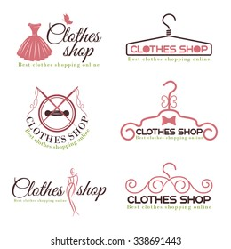 9216a31f58 Clothes shop fashion logo vector set design