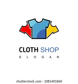 Clothes Shop Logo, Cloth Icon
