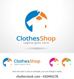 Clothes Shop Logo Template Design Vector