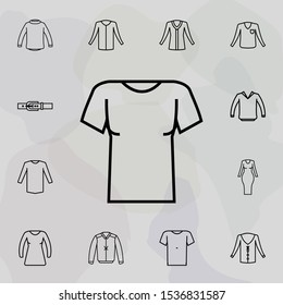 Clothes sleeves t-shirt icon. Universal set of clothes for website design and development, app development