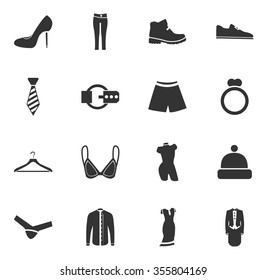 Clothes symbol for web icons