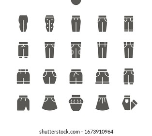 Clothes v2 UI Pixel Perfect Well-crafted Vector Solid Icons 48x48 Ready for 24x24 Grid for Web Graphics and Apps. Simple Minimal Pictogram