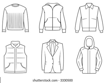 Men's Clothes - Vector Illustration. You'll find more similar images in my portfolio