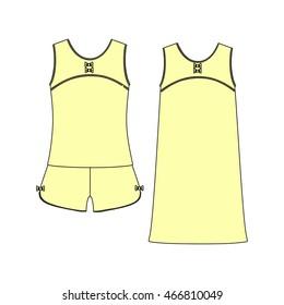 clothes. Women's homewear. pajamas jersey. shorts and top.