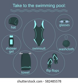 clothing and accessories for swimming pools