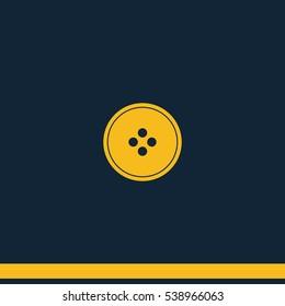 Clothing button vector icon.