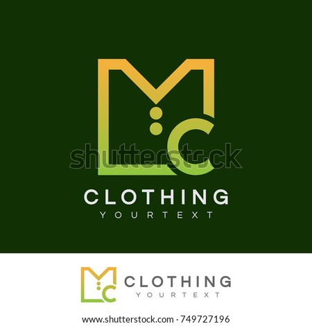 5fd844ea8 Clothing Initial Letter C Logo Design Stock Vector (Royalty Free ...