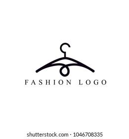 clothing logo template. minimalist hanger logo