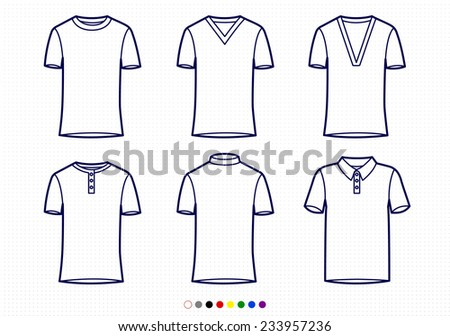 cb6e41f840aec Clothing Pictograms One Color Outline T Shirt Stock Vector (Royalty ...