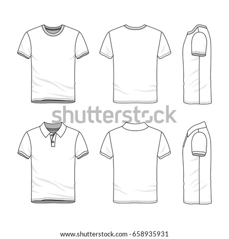 Clothing Set Blank Vector Templates White Stock Vector Royalty Free