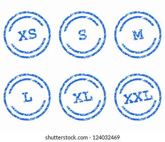 Clothing size stamps