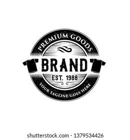 Clothing, tshirt, and apparel logo classic