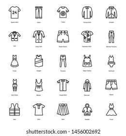 Clothing Vector Line Icons Pack