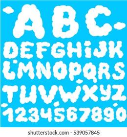 Cloud abc. Cloud font