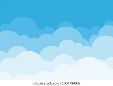 Cloud abstract background in blue tones.