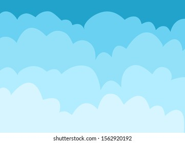 Cloud background Isolated Object. Vector illustration.