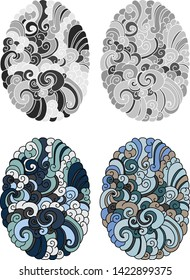 cloud background for tattoo.Japanese wave tattoo design.Chinese cloud for arm