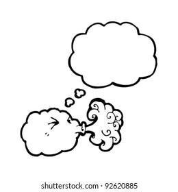 cloud blowing gale cartoon