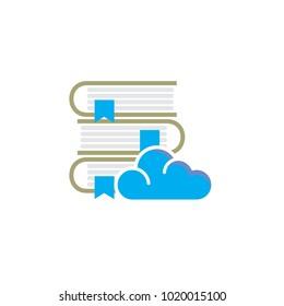Cloud Book Logo Icon Design