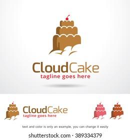 Cloud Cake Logo Template Design Vector