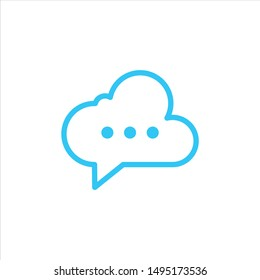 Cloud Chat Symbol for Logo Design vector