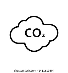 Cloud Co2 Icon Vector Design