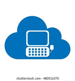 cloud computing with computer icon vector illustration design