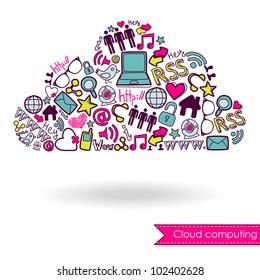 Cloud computing concept and social media